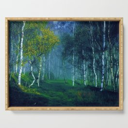 White Birch Forest, New England Landscape Serving Tray