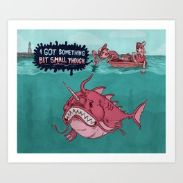 The One That Should of got Away Art Print