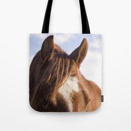 Modern Horse Print Tote Bag