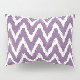 Violet Asian Moods Ikat Chevrons Pillow Sham