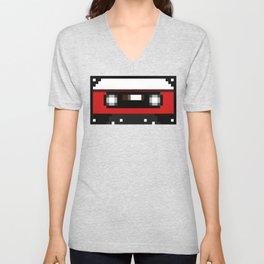 Red Cassette Unisex V-Neck