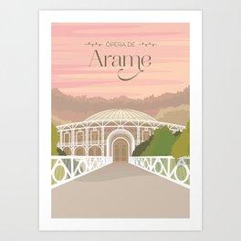 Curitiba - Ópera de Arame Art Print