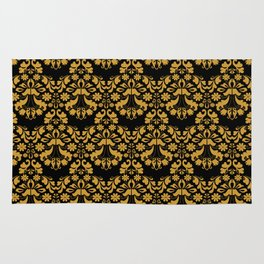 Golden ornament in baroque style Rug