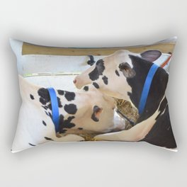 Pair of black and white cows 1 Rectangular Pillow
