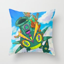 Robo X 001 Throw Pillow
