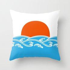 Japanese Tsunami  Throw Pillow