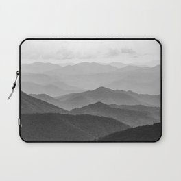 Forest Fade - Black and White Landscape Nature Photography Laptop Sleeve