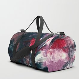Endless Grace: an abstract acrylic piece in purples and blues by Alyssa Hamilton Art Duffle Bag