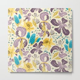 Spring Flower Field Metal Print