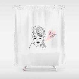 anna karina Shower Curtain