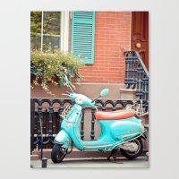 vespa Canvas Prints featuring Vespa  by Carmen Moreno Photography