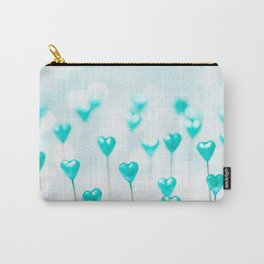 Turquoise hearts Carry-All Pouch