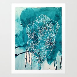 Empty nest in marine Art Print