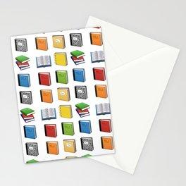 Book Emoji Pattern Stationery Cards