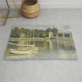The Argenteuil Bridge by Claude Monet Rug