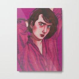 Pink Brett Metal Print