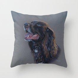 English Cocker Spaniel art print Throw Pillow