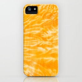 underwater fire, a coral dream of tree branches in orange iPhone Case