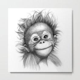 Monkey - Baby Orang outan 2016 G-121 Metal Print