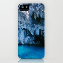 NATURE'S WONDER #3 - BLUE GROTTO #art #society6 iPhone Case
