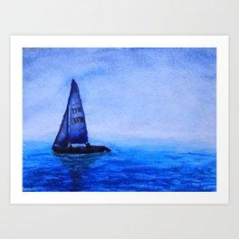 Sailing in the Mist Art Print