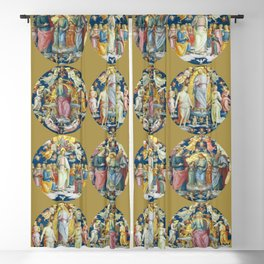 "Raffaello Sanzio da Urbino ""Ceiling Of The Stanza Dell Incendio Del Borgo"" Blackout Curtain"