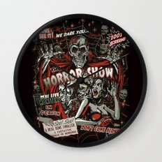 The Horror Show Wall Clock