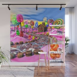 Pink Candyland Wall Mural