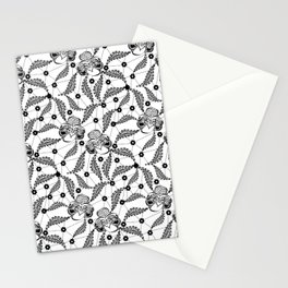 Black vintage lace . Stationery Cards