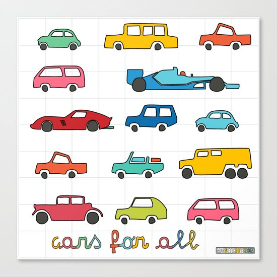 Cars for all Canvas Print