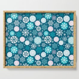 Magical snowflakes IV Serving Tray