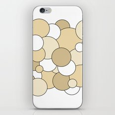 Bubbles - brown and white iPhone & iPod Skin