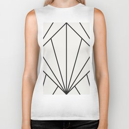 Diamond Series Sun Burst Charcoal on White Biker Tank