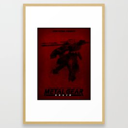 Metal Gear Rex Digital Ink-Blot Fan Art Minimalist Poster Framed Art Print