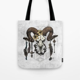Bestial Crowns: The Ram Tote Bag