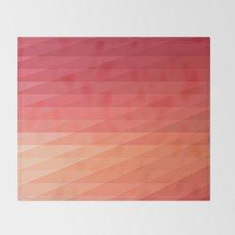 Fig. 044 Coral, Pink & Peach Geometric Diagonal Stripes Throw Blanket