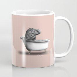 Hippo in Bath Kaffeebecher