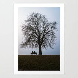 That night we sat together under a tree Art Print