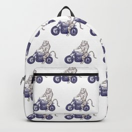 Tiger on a Motorcycle Backpack