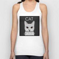 lorde Tank Tops featuring Cat Purr Catnip by MySistersaHippie