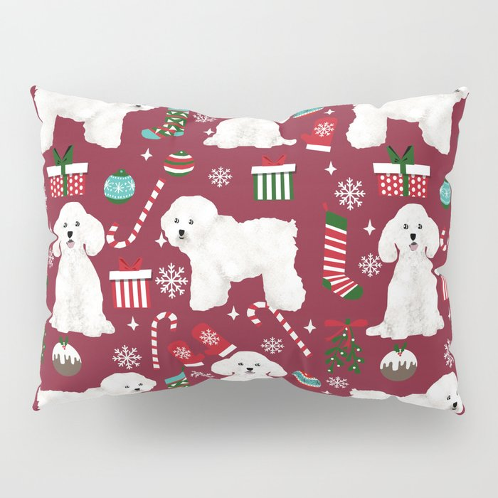 bichon frise christmas dog breed pattern mittens stockings presents dog lover pillow sham - Christmas Mittens