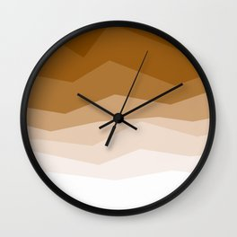 Earth Waves Astract Wall Clock