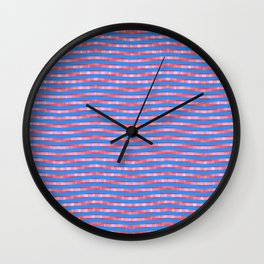 Waving Fuzzy Pink and Blue Pattern Wall Clock