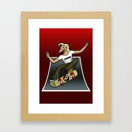 Pat The Skateboard Cat Framed Art Print
