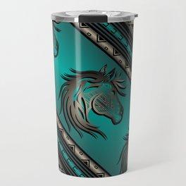 Horse Nation (Aqua) Travel Mug