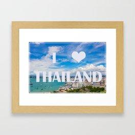 Thailand view point tourist attraction I love Thailand Framed Art Print