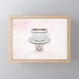 Coffee Head Framed Mini Art Print