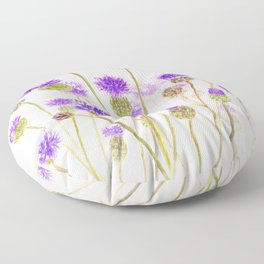 purple thorny wildflower Floor Pillow