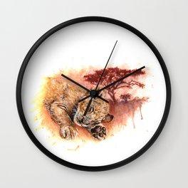 Sweet Dreams - Baby Lion Cub Wall Clock