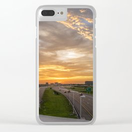 The Hunted Sunset Clear iPhone Case